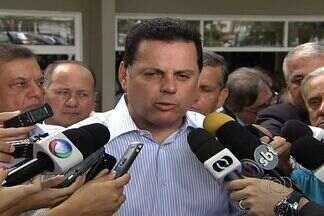 Marconi Perillo fala sobre pedido de indiciamento feito pela CPMI do Cachoeira - Governador de Goiás falou durante visita ao Hospital de Urgências de Goiânia.Relator da CPI pedirá indiciamento do governador de Goiás e mais 45.