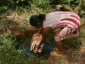 Índios reclamam de falta de água em aldeia de Ponta Porã (MS) - Na região, a única caixa d'água que existe tem capacidade para 20 mil litros e abastece o Posto de Saúde e apenas 11 famílias das 75 que vivem no local. Eles temem um risco de contaminação por agrotóxico das águas retiradas dos córregos da aldeia.