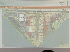 Empresa Olímpica Municipal apresenta novo projeto do Parque Olímpico em Jacarepaguá - Segundo a prefeitura, o projeto definitivo, traz as alterações das quadras de tênis, velódromo e piscina. Ainda foi apresentado o cronograma das obras. Segundo a empresa olímpica, os prazos estão sendo cumpridos.