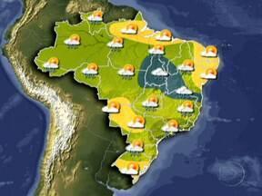 Confira a previsão do tempo para esta terça (27) em todo o Brasil - Pode chover forte no RJ, no sul de MG, no centro-leste de SP e no leste do PR. Entre os sul da BA e o sudente do PA, o tempo deve ficar nublado e ter chuva a qualquer hora. Nas outras regiões deve ter sol e chuva passageira.