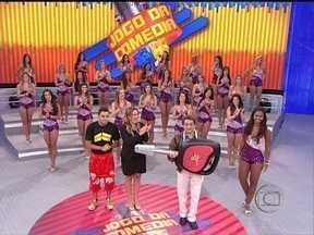 João Cláudio Moreno vence o Jogo da Comédia no voto da plateia - Galera faz a diferença e comediante fatura o carro 0km no palco do Domingão