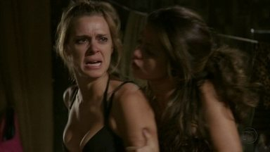 Jéssica parte para cima de Rosângela - Morena segura a onda da loura e chora ao lembrar da sua vida no Rio