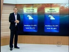 Confira a previsão do tempo para os próximos dias em Santa Catarina - A previsão é do meteorologista Leandro Puchalski.