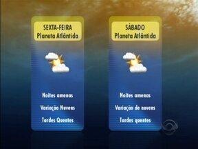 Confira a previsão do tempo com Leandro Puchalski - Leandro Puchalski fala da previsão para os dias de Planeta Atlântida.