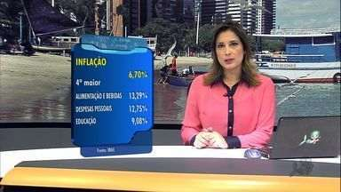 Inflação na Grande Fortaleza em 2012 é a quarta maior do país - Alimentação e bebidas são os itens que mais subiram.