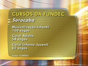 Fundec abre inscrições para cursos de música e teatro em Sorocaba, SP - Estão abertas as inscrições para os cursos de música e teatro do Instituto Municipal de Música de Sorocaba (SP), oferecidos pela Fundec.