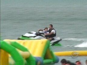 Flagrante registra irregularidade com moto aquática - Flagrante registra irregularidade com moto aquática.