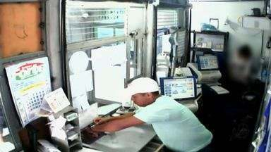 Clientes de lotérica vivem momentos de pânico em assalto em Fortaleza - Ação dos bandidos foi filmada pelas câmeras de circuito interno de tv.