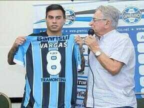 Comentarista projeta desempenho do Grêmio com a chegada de Vargas - Assista ao comentário de Maurício Saraiva.
