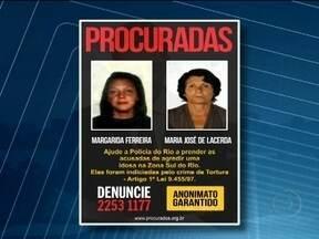 Disque-Denúncia busca mulheres acusadas de agressão de idosa - Margarida Ferreira e Maria José de Lacerda são acusadas de agredir uma idosa de quase 100 anos. As duas foram indiciadas pelo crime de tortura.