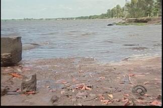 Mancha parecida com óleo de embarcação surge na lagoa de Barra do Sul - Segundo Fatma, área está imprópria para banho