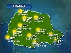 Deve fazer sol entre nuvens em Curitiba - No Litoral deve chover no fim da tarde.