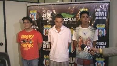 Polícia apresenta suspeitos de assassinato da Família Belota - Os três suspeitos de matarem os integrantes da Família Belota foram apresentados pela Polícia nesta quarta (23).