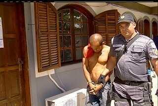 Homem acusado de assaltar padaria é preso em Cabo Frio, RJ - Bandido anunciou o roubo através de um bilhete que anunciando o crime.Rolean Fonseca Laber estava em casa no bairro Jardim Caiçara.