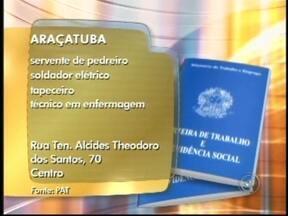 Acompanhe as vagas de emprego disponíveis na região noroeste paulista - Para quem está à procura de emprego, na região de São José do Rio Preto (SP) há várias oportunidades. Confira as vagas em Catanduva (SP), Araçatuba (SP) e Rio Preto.