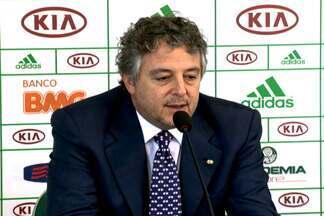 Palmeiras fecha nova parceria com rede lojas para gerar mais receita - Presidente fala sobre as contratações do clube.