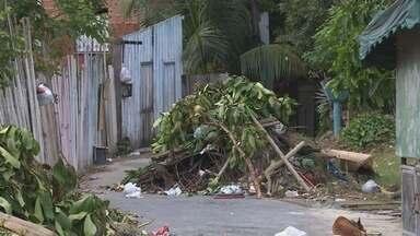 Moradores reclamam do lixo no bairro braga Mendes - Moradores reclamam que a prefeitura não passou para retirar o lixo.