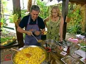 Parreira ensina a preparar Paella, prato típico espanhol - Delícia! Parreira ensina a preparar Paella, prato típico espanhol