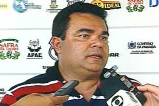 Sérgio Cosme não é mais técnico do Treze - Diretoria decidie demitir o treinador, mesmo com o time na vice-liderança do Campeonato Paraibano.