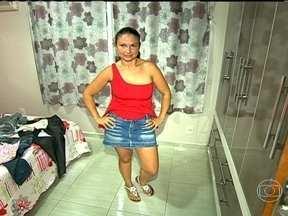 Cristiane comemora a perda de 10kg - A dona de casa do Rio de Janeiro conta que foi emagrecendo aos pouquinhos e está satisfeita com o resultado. Ela melhorou a alimentação e faz caminhadas.