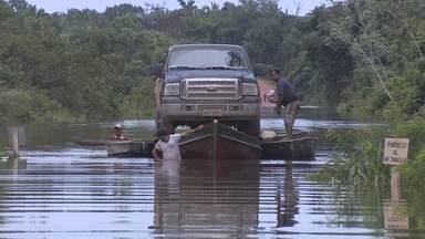 Grande parte da Rodovia Transamazônica está alagada - Cidades do sul do Amazonas estão isoladas.