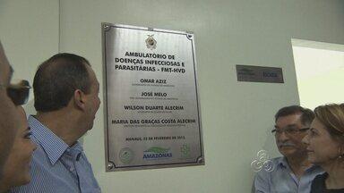 Omar Aziz inaugura ambulatório de doenças infecciosas - Inaugurado mais um ambulatório de doenças infecciosas e parasitárias da fundação de medicina tropical.