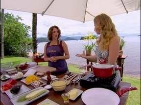 Letícia Isnard ensina receita refinada de Cuscuz Marroquino ao Pesto - A receita é a cara do verão e ainda leva lascas de amêndoas torradas