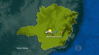 Domingo vai ser de tempo instável em regiões de Minas Gerais - Em Belo Horizonte, temperatura fica amena.
