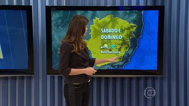 Calor continua no fim de semana em Belo Horizonte mesmo com possibilidade de chuva - Termômetros devem ficar entre 20°C e 30°C.