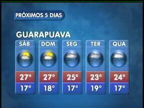 O fim de semana deve ter sol e chuva na região de Guarapuava - O sábado começa com sol, mas à tarde podem ocorrer pancadas de chuva na cidade.