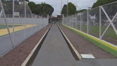 Reinaugurado o Centro de Esportes do centro de Porto Velho - Local ganhou pintura nova, reparos na estrutura e aparelhos para ginástica.