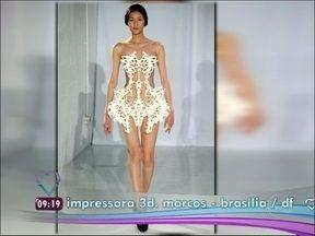 Impressora 3D imprime em diversos materiais e já cria até vestidos - Já tem estilista aproveitando a novidade para dar um toque tecnológico aos desfiles