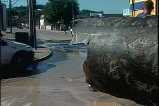 Bairros da zona sul de Joinville ficam sem água nesta sexta-feira (22) - Rompimento de adutora parou Estação de Tratamento do Cubatão por 14 horas.