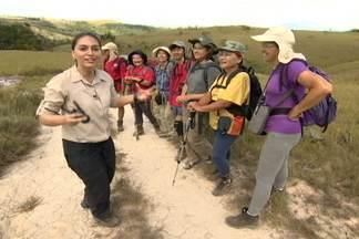 Na ida, repórter encontra grupo voltando do Monte Roraima - Grupo de paulistanos experientes em caminhada encontram com equipe do Globo Repórter e batem um papo sobre as maravilhas do local.