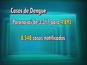 Paranavaí registra 1.575 casos de dengue em apenas uma semana - Segundo o último boletim da dengue, divulgado nesta segunda-feira (25) pela Secretaria de Saúde do Estado, Paranavaí já tem 4.892 casos confirmados.