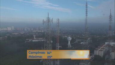 Temperatura pode chegar aos 25º C nesta quarta-feira (27) em Campinas - A temperatura pode chegar aos 25º C nesta quarta-feira (27) em Campinas (SP). Confira a previsão do tempo para outras cidades da região.