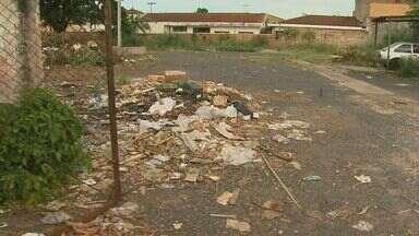 Moradores reclamam de lixo acumulado em bairro de Ribeirão Preto, SP - Pessoas afirmam que entulho nos Campos Elíseos possui focos de dengue.