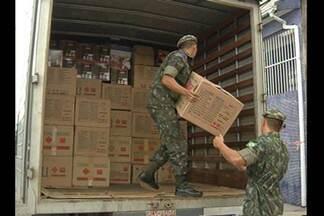 Caixas com material explosivo são apreendidas em Belém - Segundo a polícia, 500 caixas foram apreendidas no bairro de Canudos. Material seria usado para a produção de explosivos caseiros.
