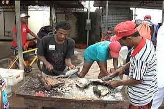 É grande a procura por peixes na Feira do Portinho, em São Luís - É grande a procura por peixes na Feira do Portinho, em São Luís. O movimento é intenso, principalmente durante a manhã. Mas a condições de infraestrutura da feira não agradam os consumidores.