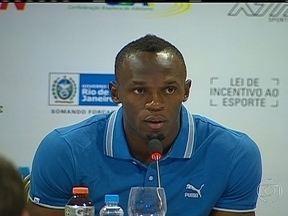Usain Bolt vai tentar quebrar recorde na Praia de Copacabana - O astro do atletismo mundial vai tentar quebrar o recorde mundial na prova dos 150 metros, que não é olímpica, em uma pista montada na Praia de Copacabana. É a segunda viagem de Usain Bolt ao Brasil em apenas cinco meses.