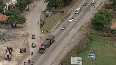Acidentes deixam trânsito lento na BR-381, na Grande BH - Motoristas enfrentaram congestionamento nesta manha