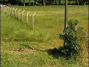 Moradores pedem limpeza urgente em locais públicos - O campo de futebol do bairro Santa Cruz está com a grama alta, e o vestiário abandonado é usado por mendigos.
