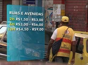 Estacionamentos públicos e zona azul têm aumento de até 100%, em Salvador - Novo preço dos estacionamentos fechados já está valendo. Já os preços dos locais de zona azul vão aumentar a partir deste fim de semana.