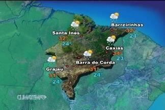 Veja como fica a previsão do tempo para esta quinta-feira (18) - Instabilidade que vem do mar provocam pancadas de chuva no norte do Maranhão nesta quinta-feira. Nas outras áreas o sol aparece sempre entre muitas nuvens e há previsão de chuva a qualquer hora do dia.