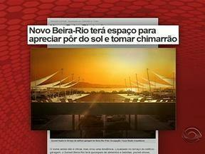 Novo Beira-Rio terá espaço para apreciar o pôr do sol - Confira tudo isso aqui no Globoesporte.com.
