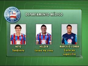 Joel Santana deve escolher substitutos para jogadores machucados - A próxima partida do Bahia será contra o Juazeirense pelo Campeonato Baiano.