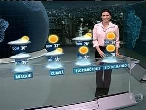 Fim de semana será de sol em grande parte do Brasil - No sábado (20), o tempo fica aberto o dia todo entre o Acre, Mato Grosso do Sul, Espírito Santo e o Rio Grande do Sul. Também não vai chover entre a Bahia e Alagoas.