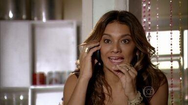 Lucimar ameaça Sheila caso ela não segure Wanda - A mãe de Morena vai ao encontro da vilã