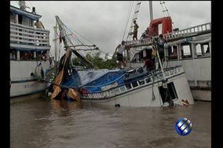 """Continuam as investigações sobre o naufrágio do barco """"Leão do Norte"""" - Barco """"Leão do Norte"""", que naufragou no rio Ariri, não tinha autorização para navegar."""