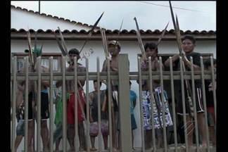 Lideranças indígenas voltam a protestar em Belo Monte - Índios pedem conclusão das obras de melhoria nas aldeias.